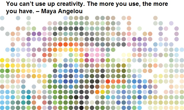 You can't use up creativity. The more you use, the more you have. – Maya Angelou
