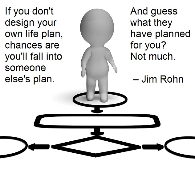 If you don't design your own life plan, chances are you'll fall into someone else's plan. And guess what they have planned for you? Not much. – Jim Rohn